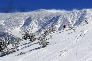 Skiing at Snow Valley Ski Resort near Running Springs, CA