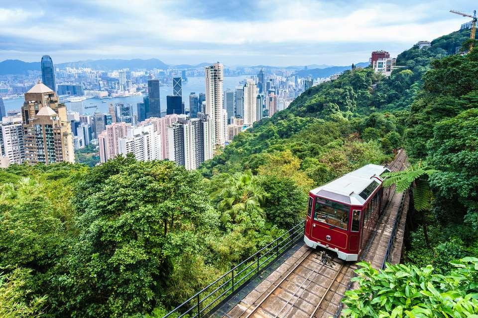 Victoria Peak Tram in Hong Kong
