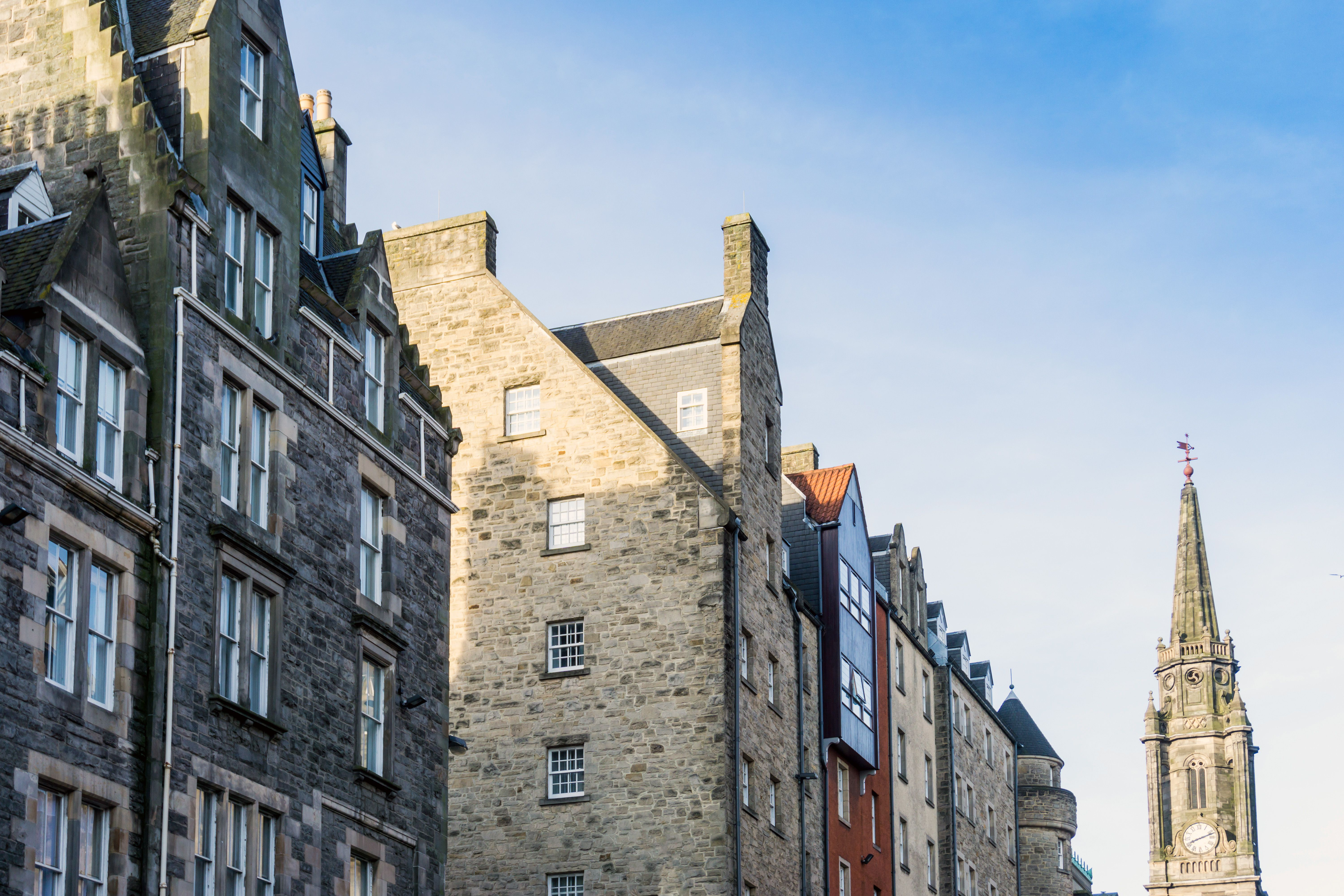 Low Angle View Of Buildings At Royal Mile