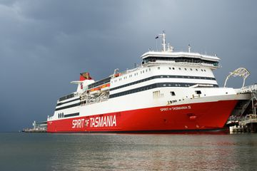 Spirit of Tasmania II docked at Station Pier in Melbourne