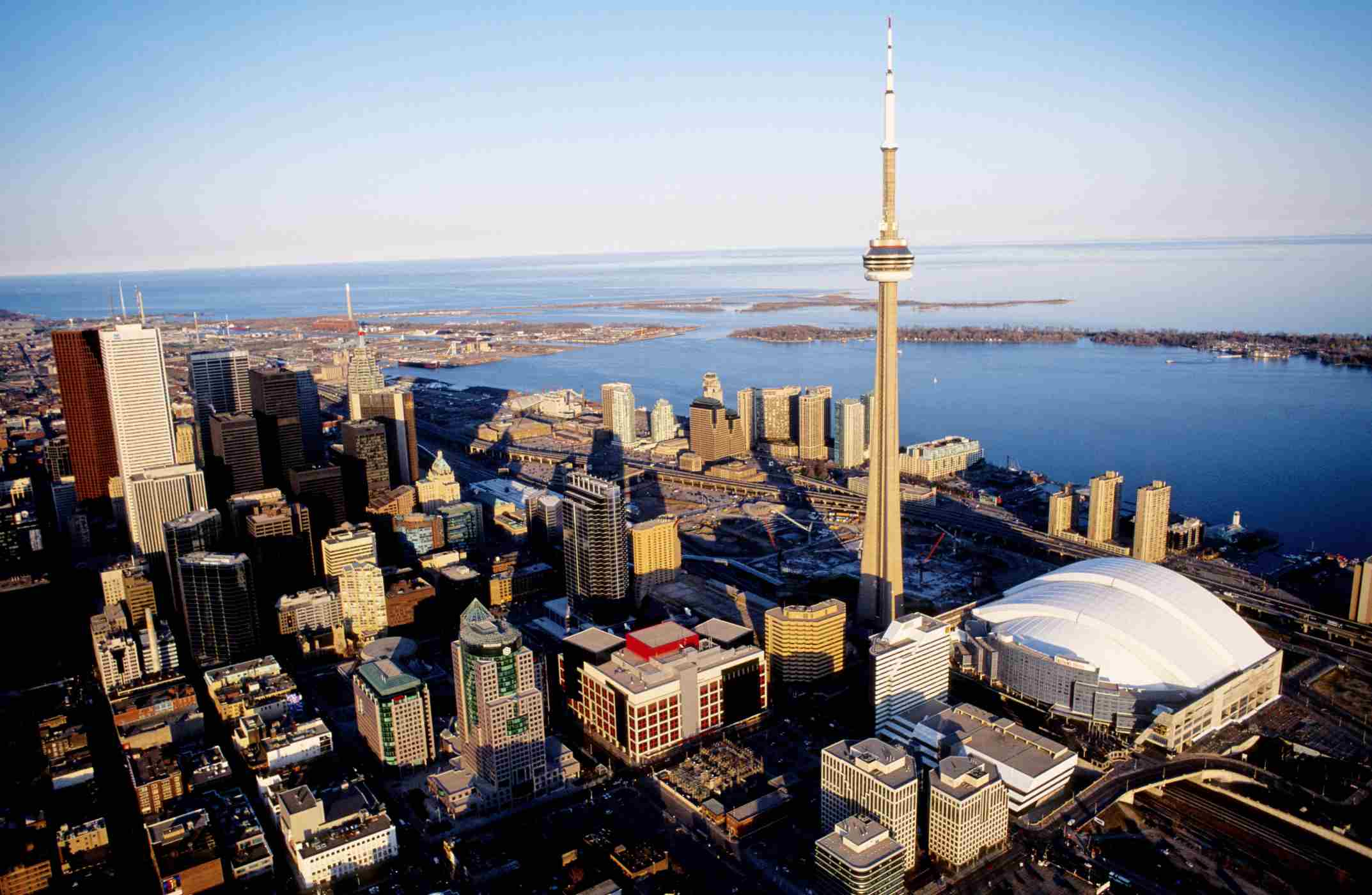 Toronto aerial view with CN Tower