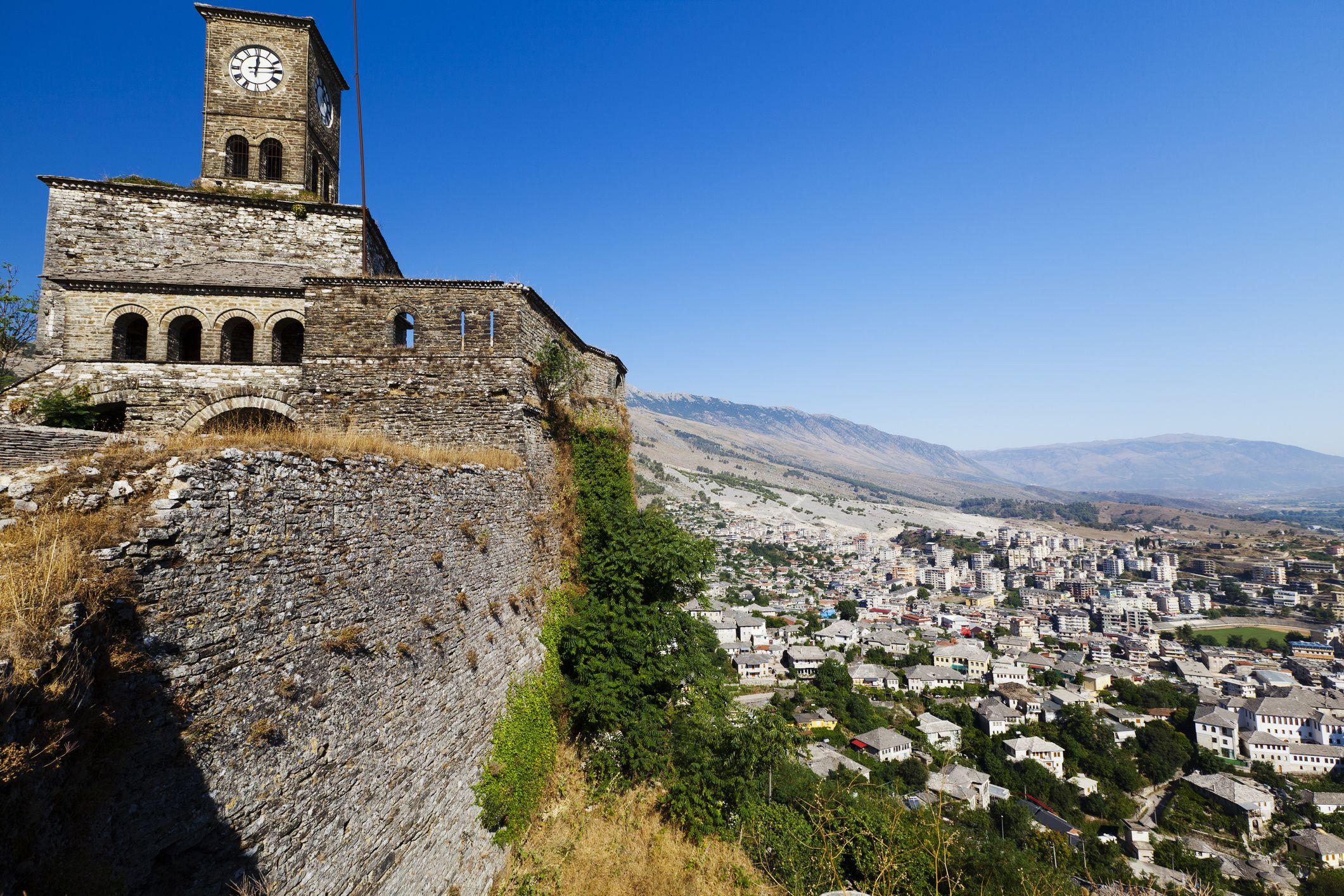 Fortaleza en Gjirokastra, Albania