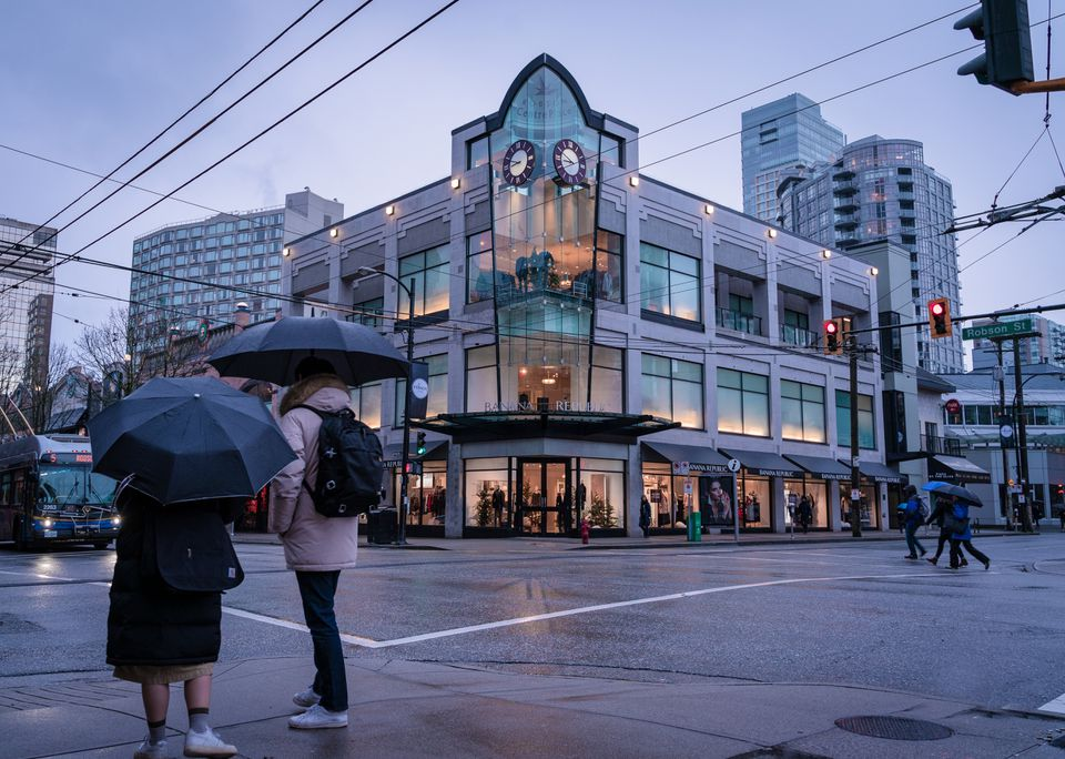 Department store on Robson Street