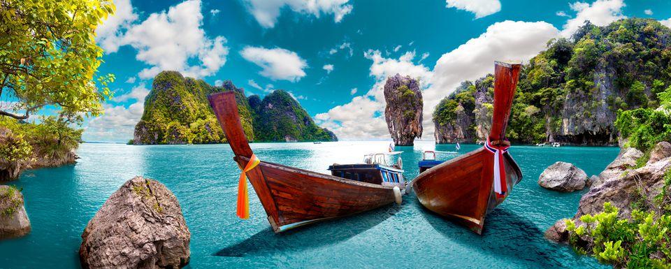 Paisaje Tailandia mar e isla. Aventuras y concepto de viaje