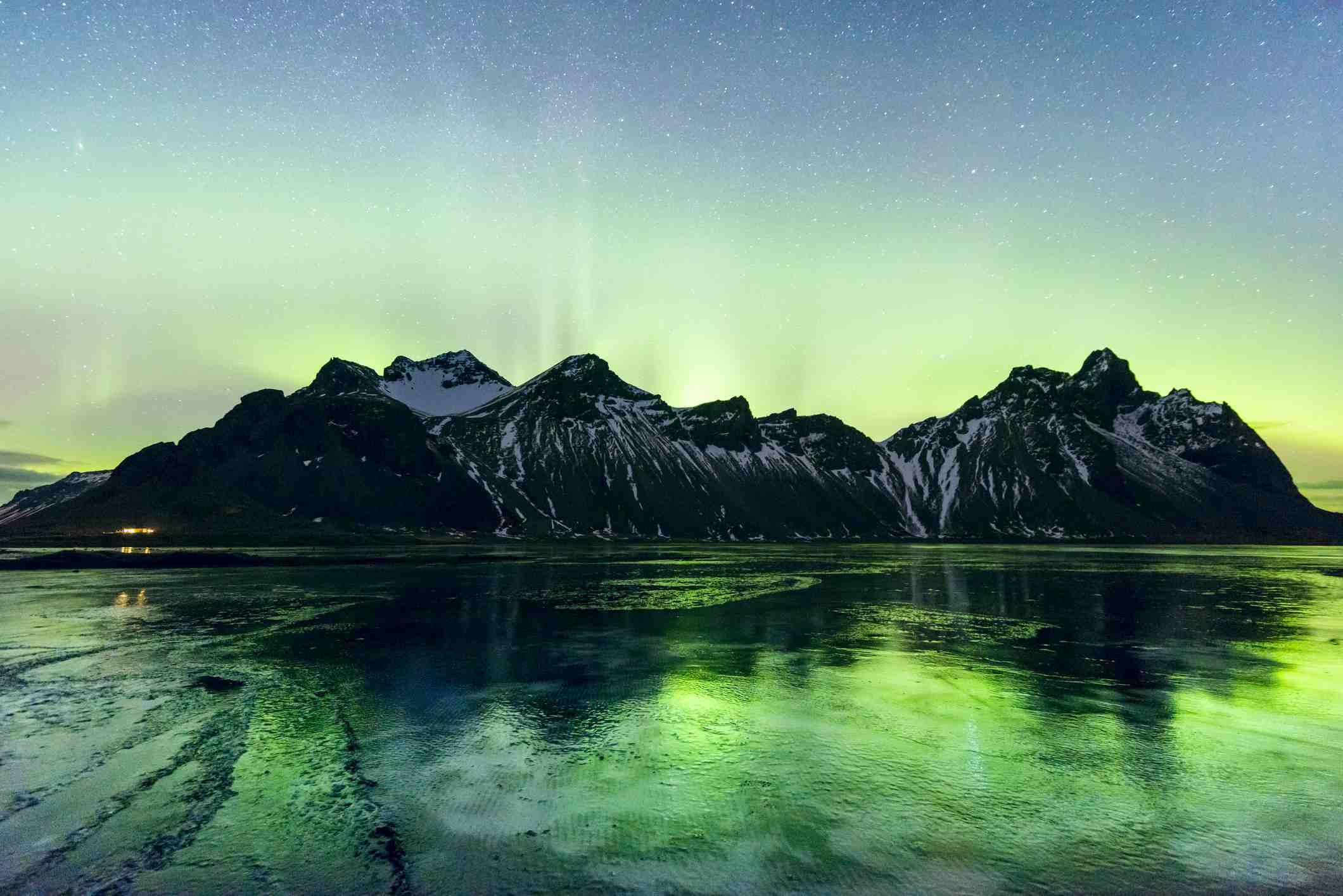Northern Lights in Stokksnes, Iceland