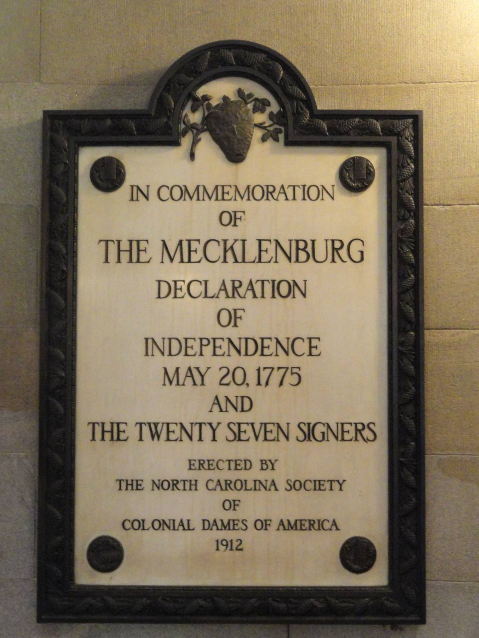 The Mecklenburg Declaration of Independence