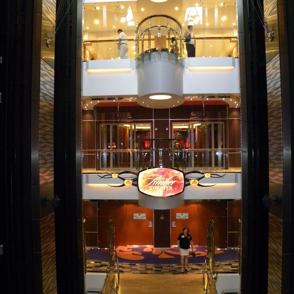 Allure of the Seas - Amber Theater Entrance