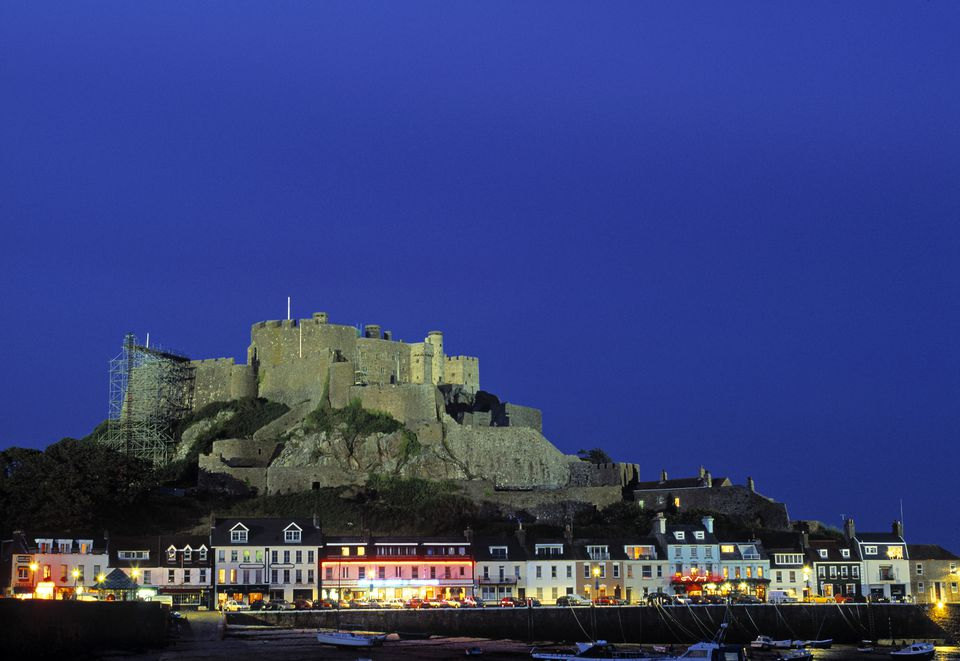mount orgueil castle gorey harbour jersey uk