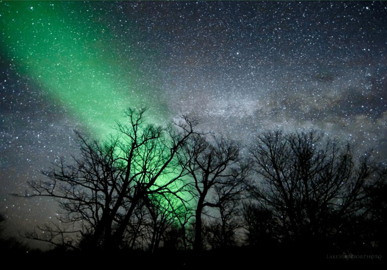 Northern Lights in Upper Peninsula, Michigan