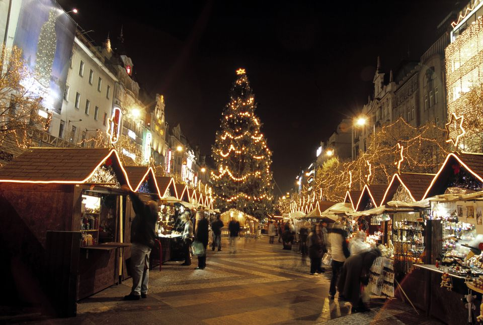 Christmas Market, Wenceslas Square, Prague, Czech Republic