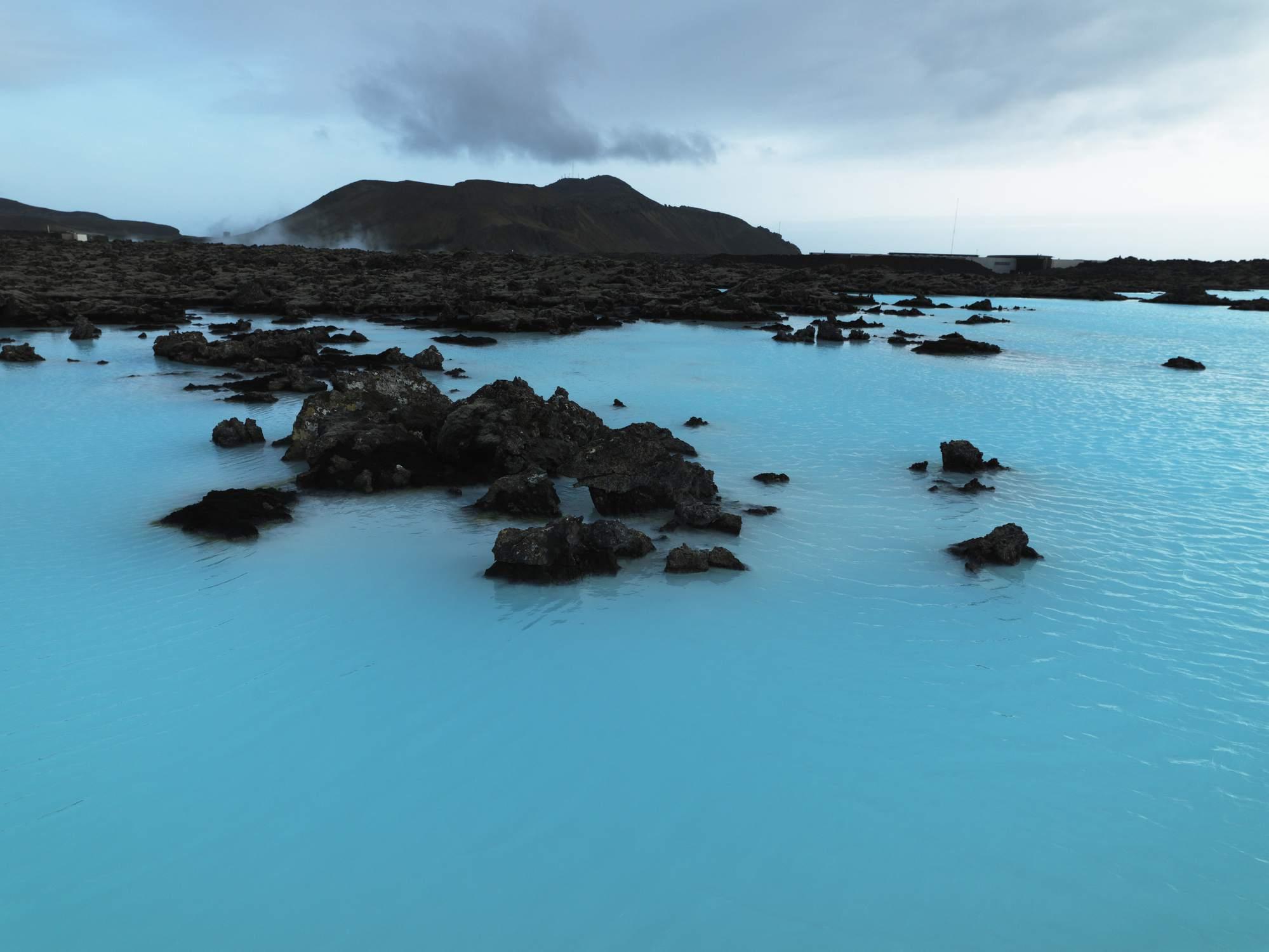 Blue Lagoon geothermal spa Iceland.