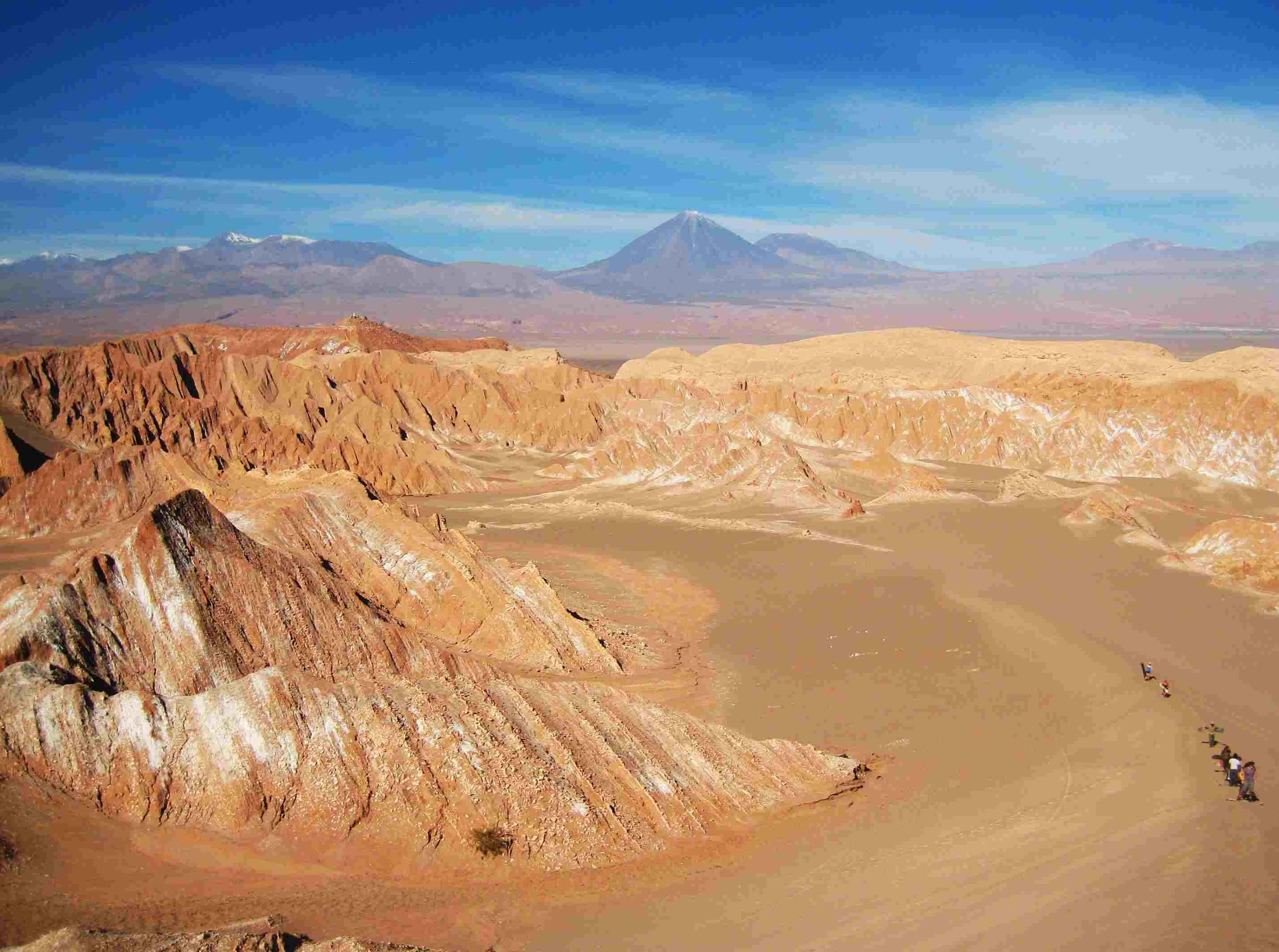 Aerial view of the Atacama Desert