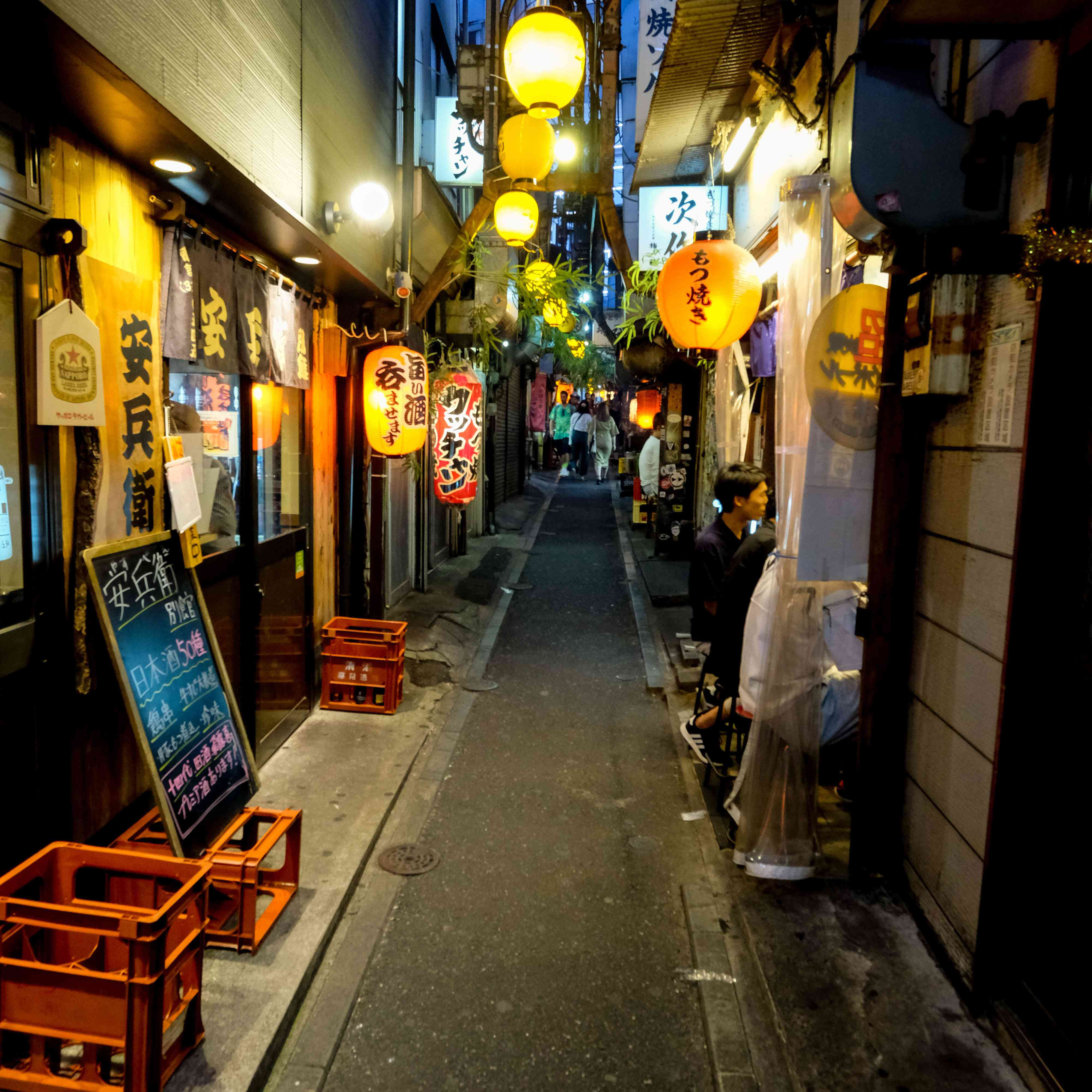 Alley way full of bars in Tokyo's Memory Lane district