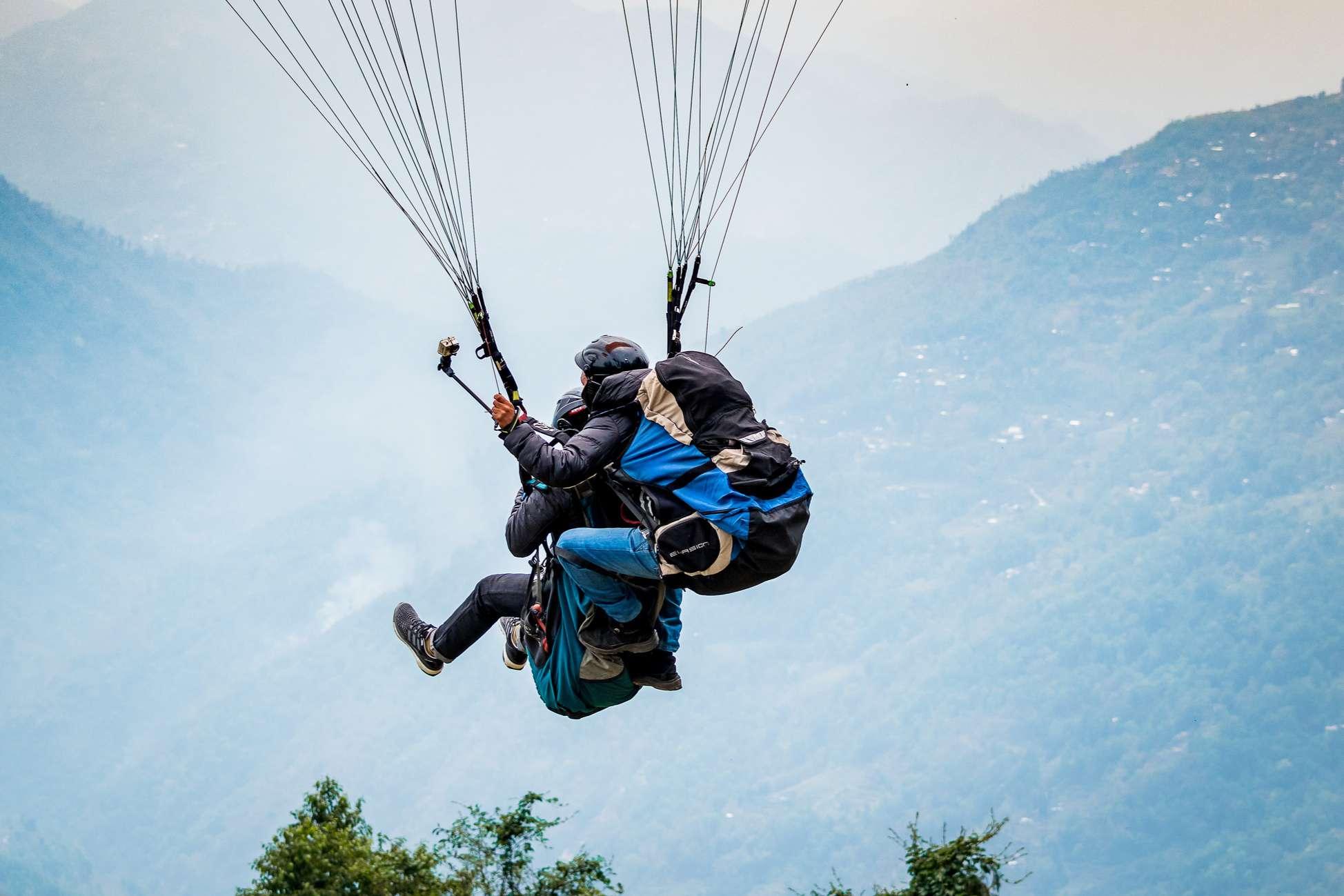 Paragliding in Darjeeling.