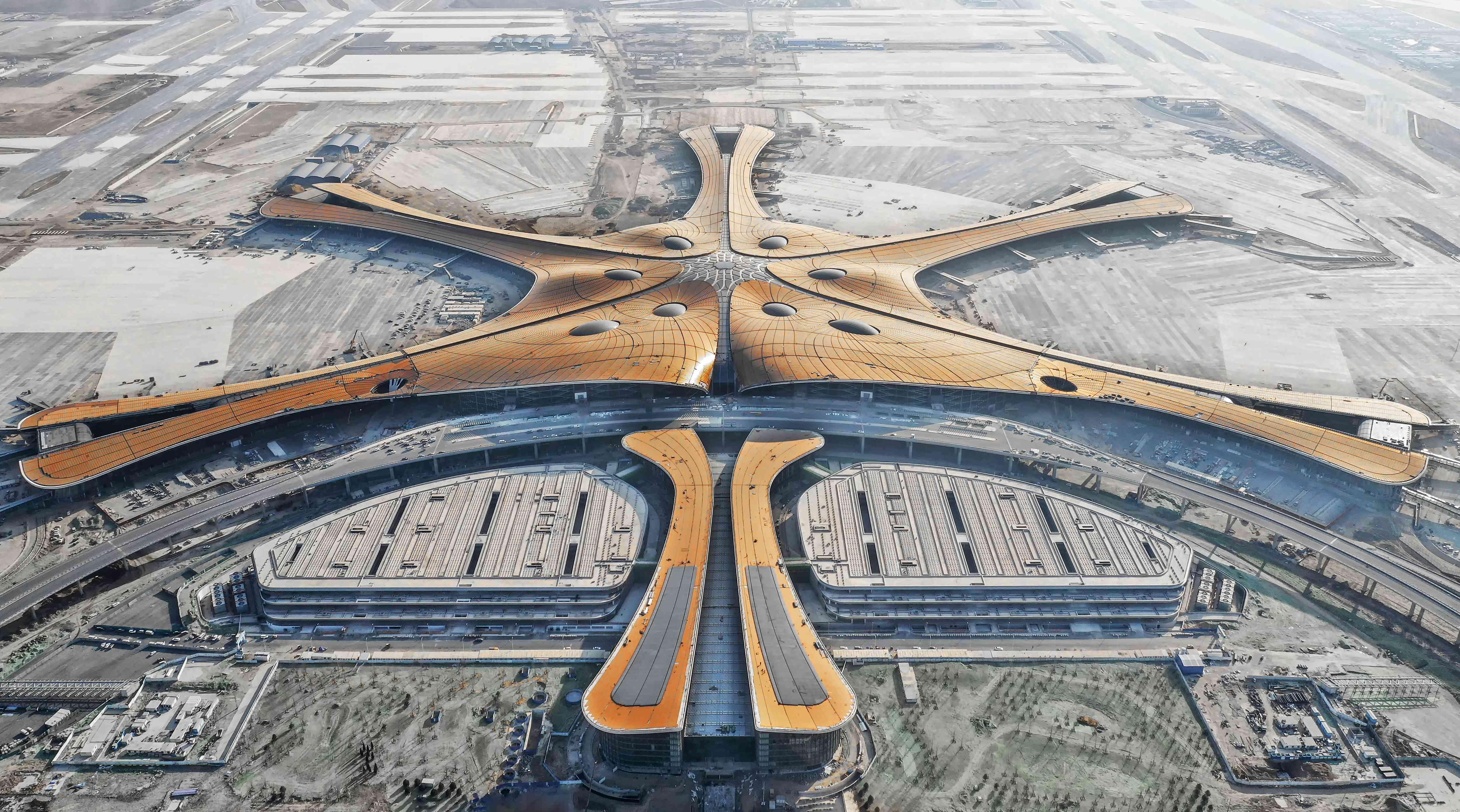 Aerial view of Beijing Daxing International Airport