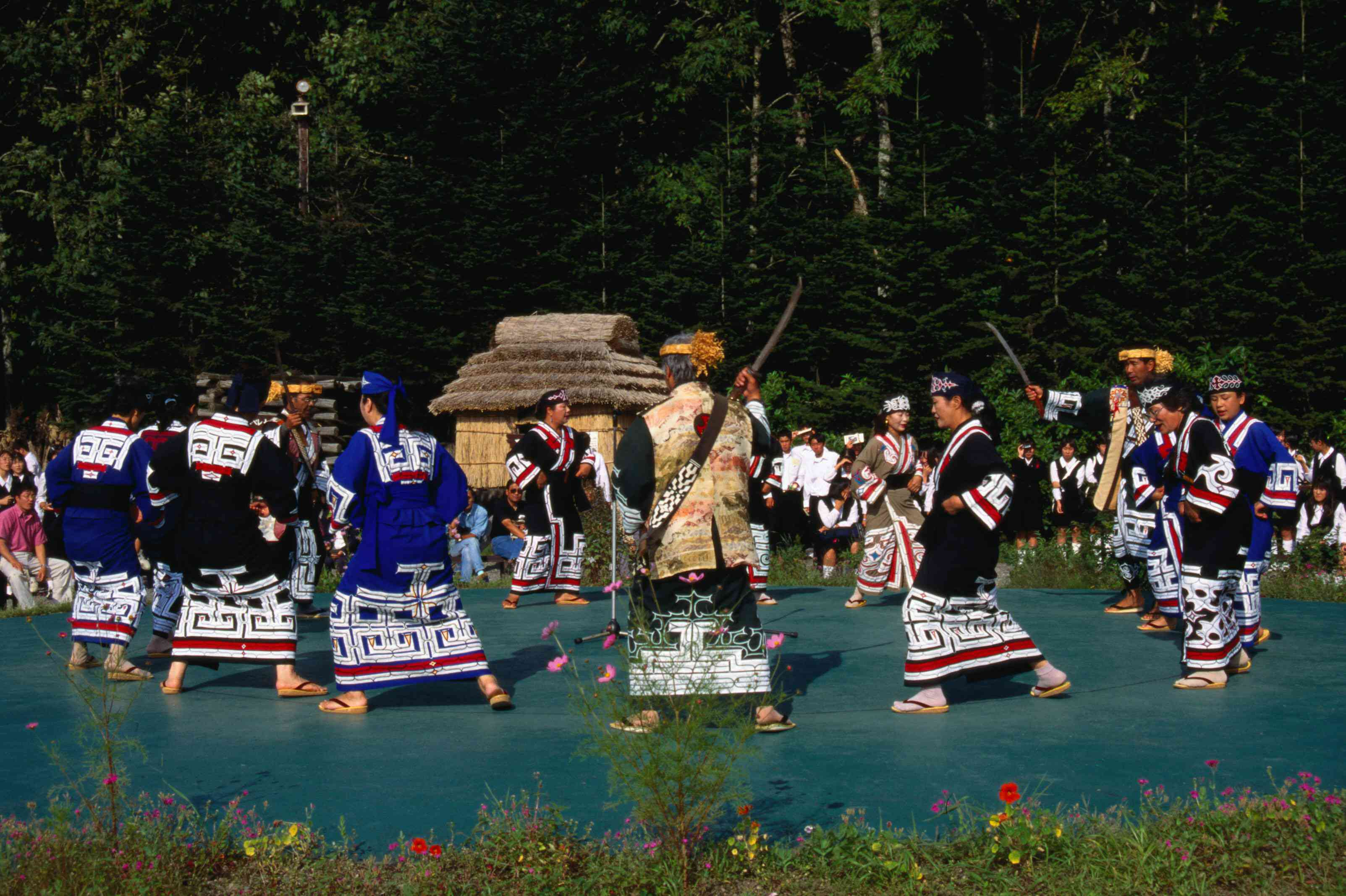 Ainu dance in reconstructed village