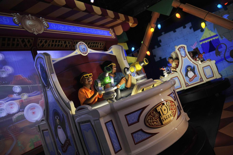 Toy Story Mania ride at Walt Disney World.