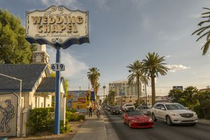 Graceland Wedding Chapel on Las Vegas Boulevard, The Strip, Las Vegas, Nevada, United States of America, North America
