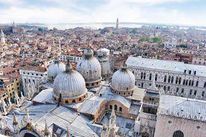 Bird's-eye view of Venice, Italy