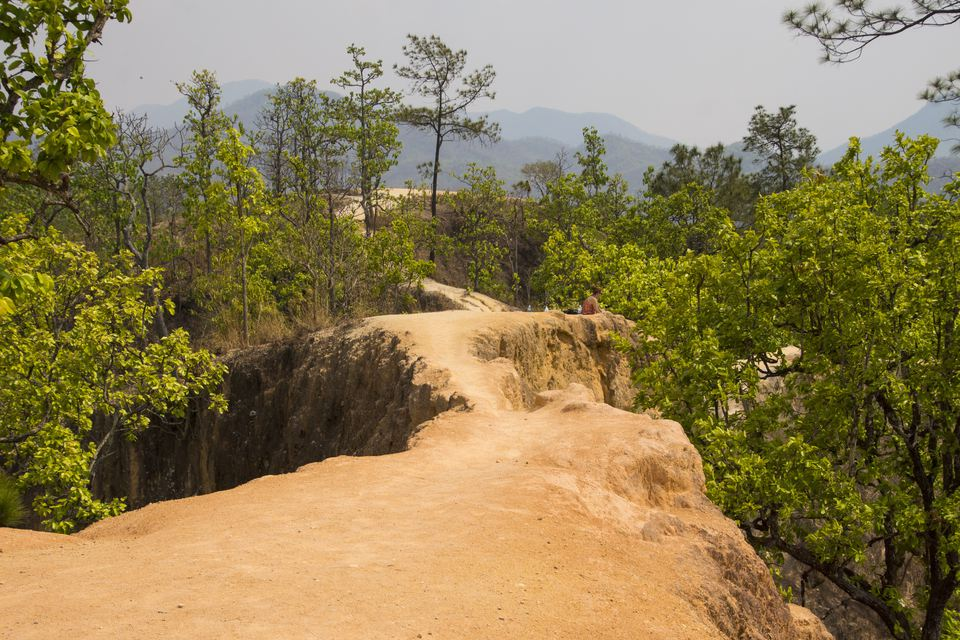 The trail at Pai Canyon in Thailand