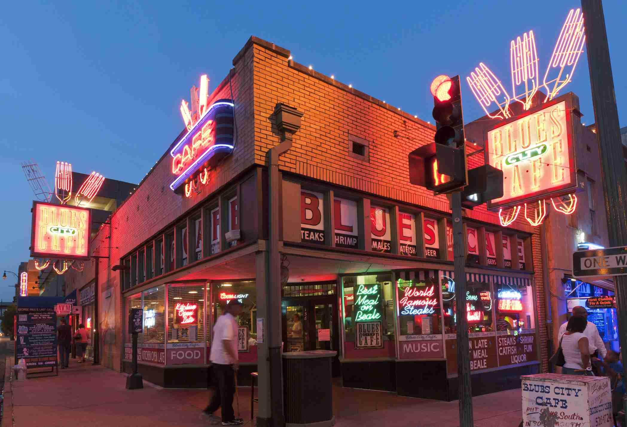 Blues City Cafe restaurant on Beale Street.