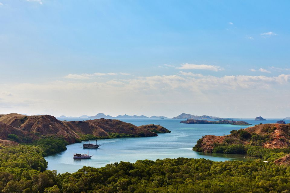 Viewpoint at Komodo National Park in Flores, Indonesia