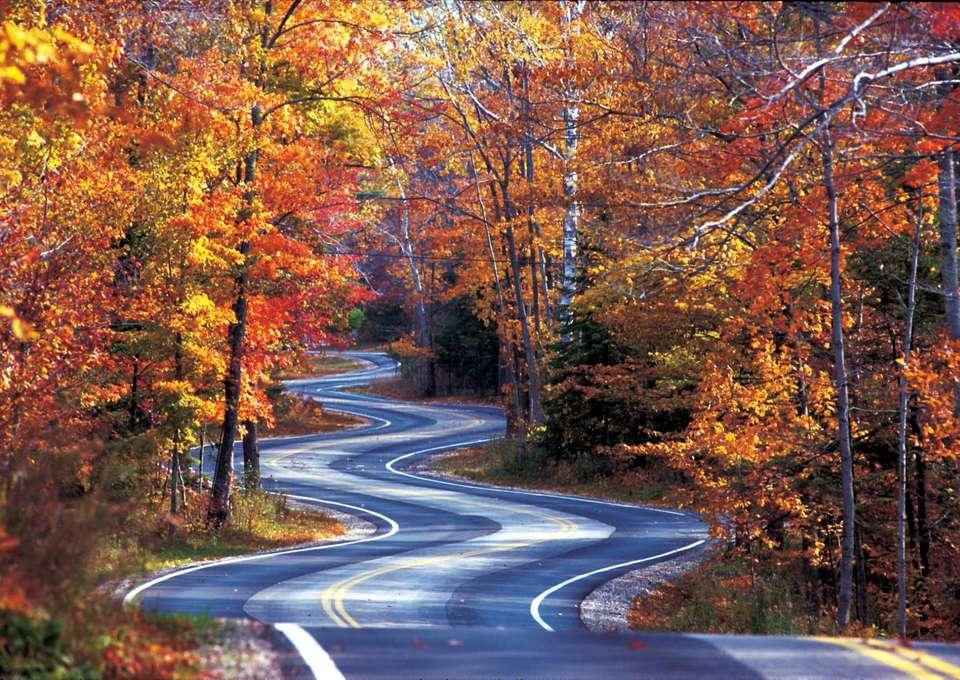 Highway 42 in Door County, Wisconsin