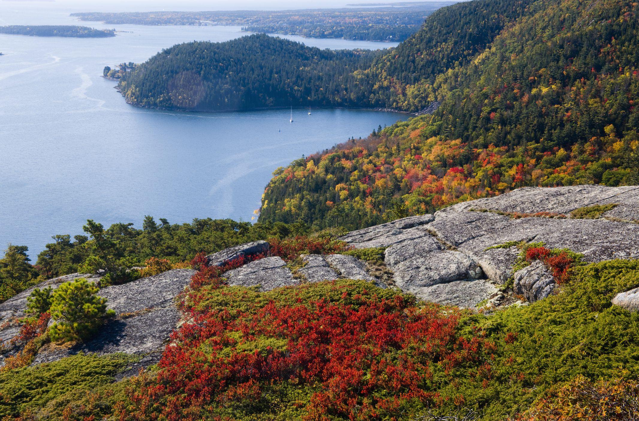 Acadia National Park in full atumn colors