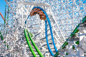 Twisted Colossus coaster Six Flags