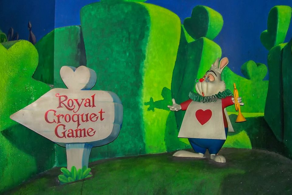 Scene from the Alice in Wonderland Ride