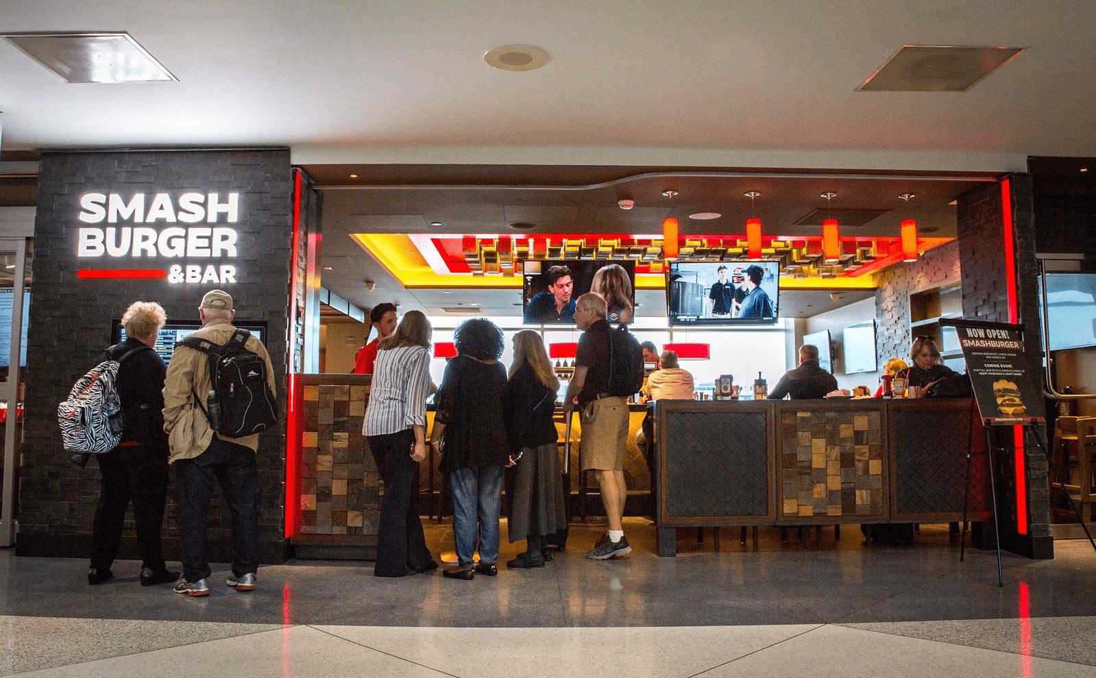 Smashburger location in Denver International Airport