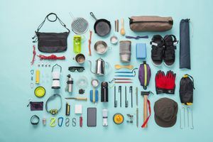 Camping equipment knolling style