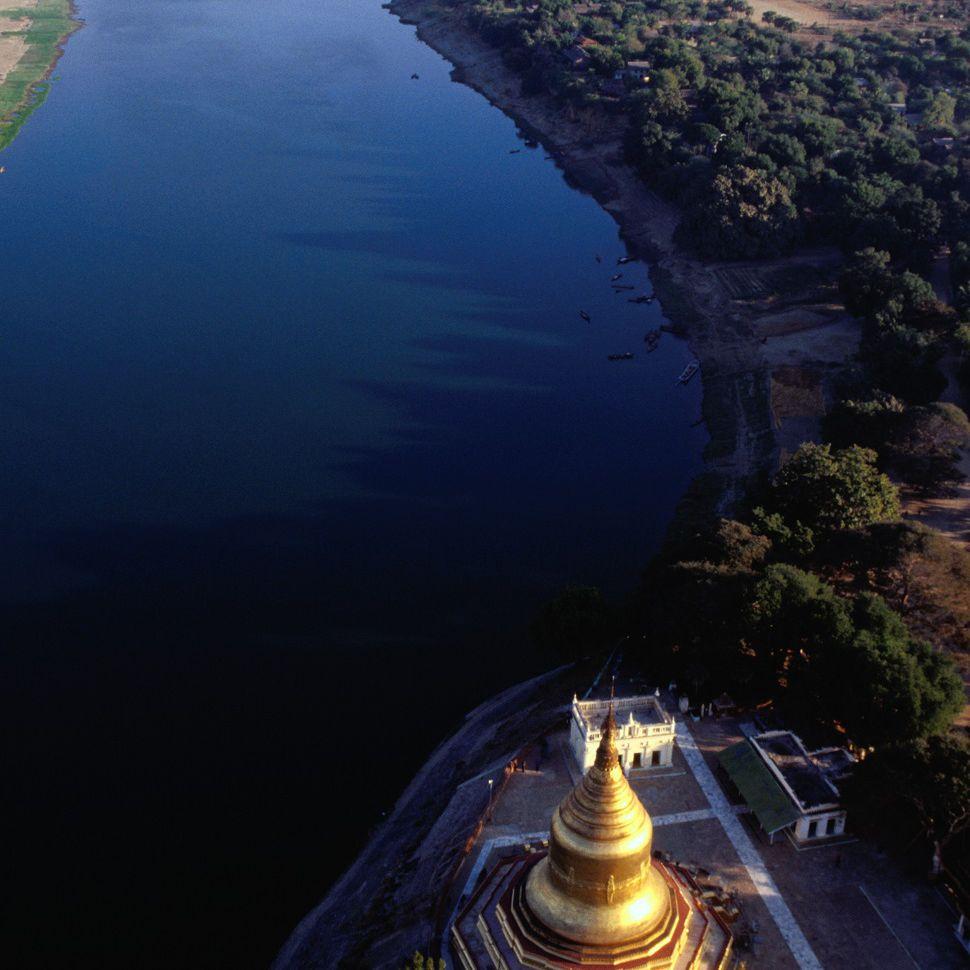 Bird's eye view of Lawkananda Stupa, Bagan, Myanmar