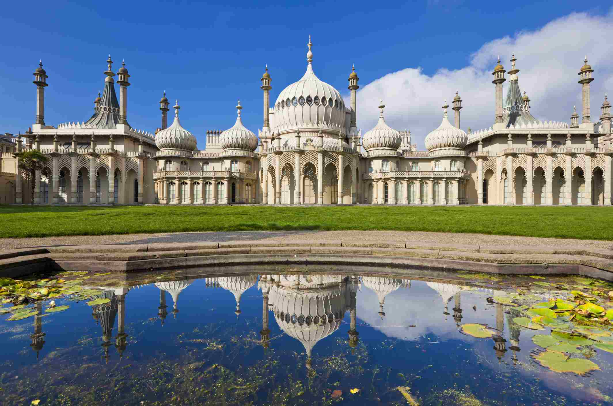 The Royal Pavilion Brighton with enough domes and towers to satisfy cravings for the most exotic wedding or civil partnership.