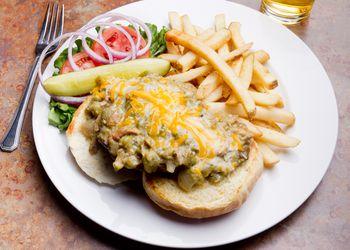 Green Chili Cheeseburger and Fries