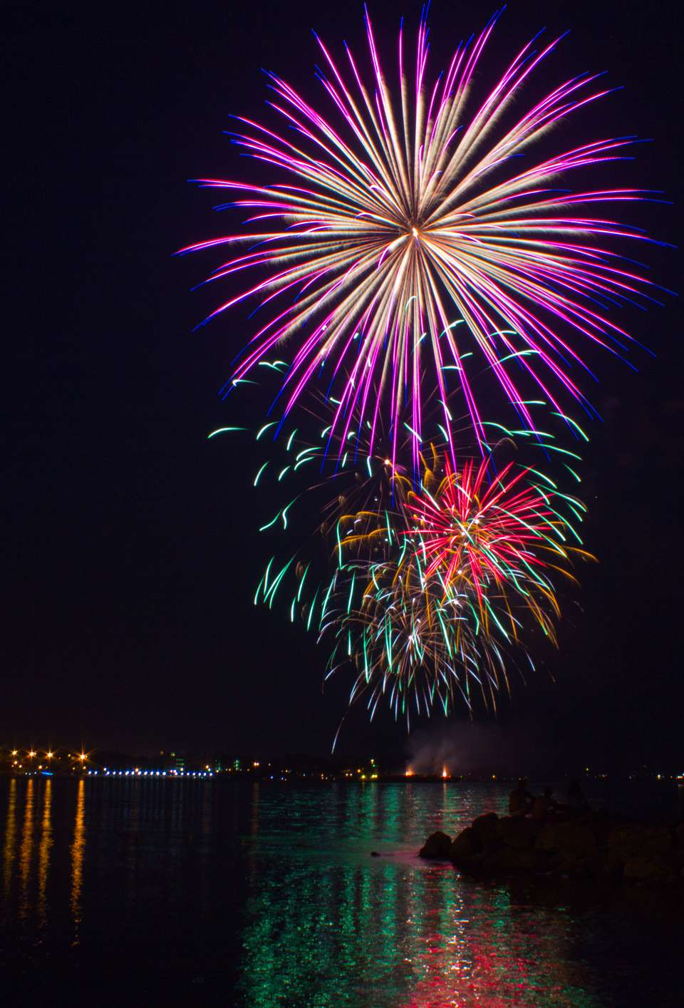 Fireworks over the York River