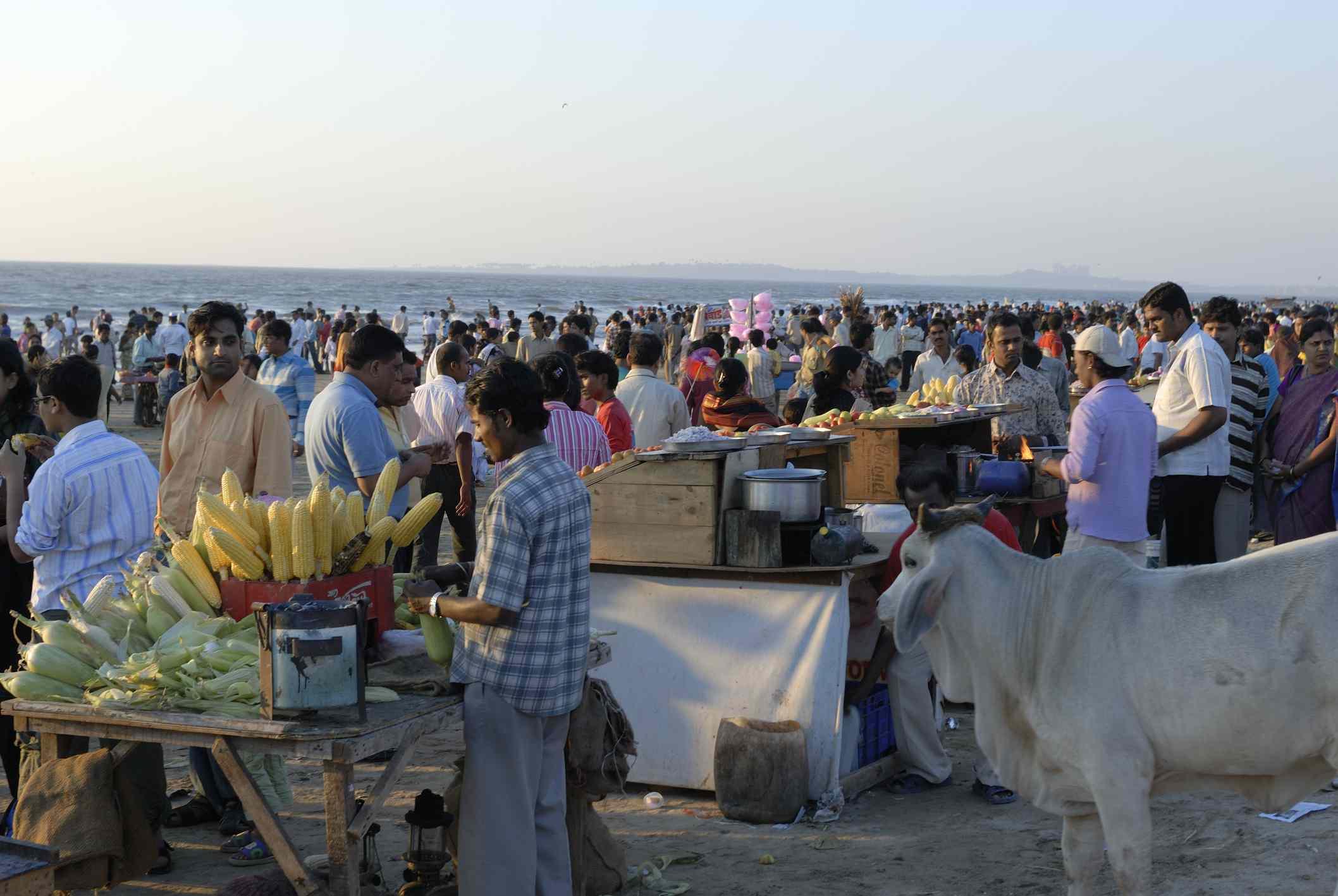 Juhu beach, Mumbai.