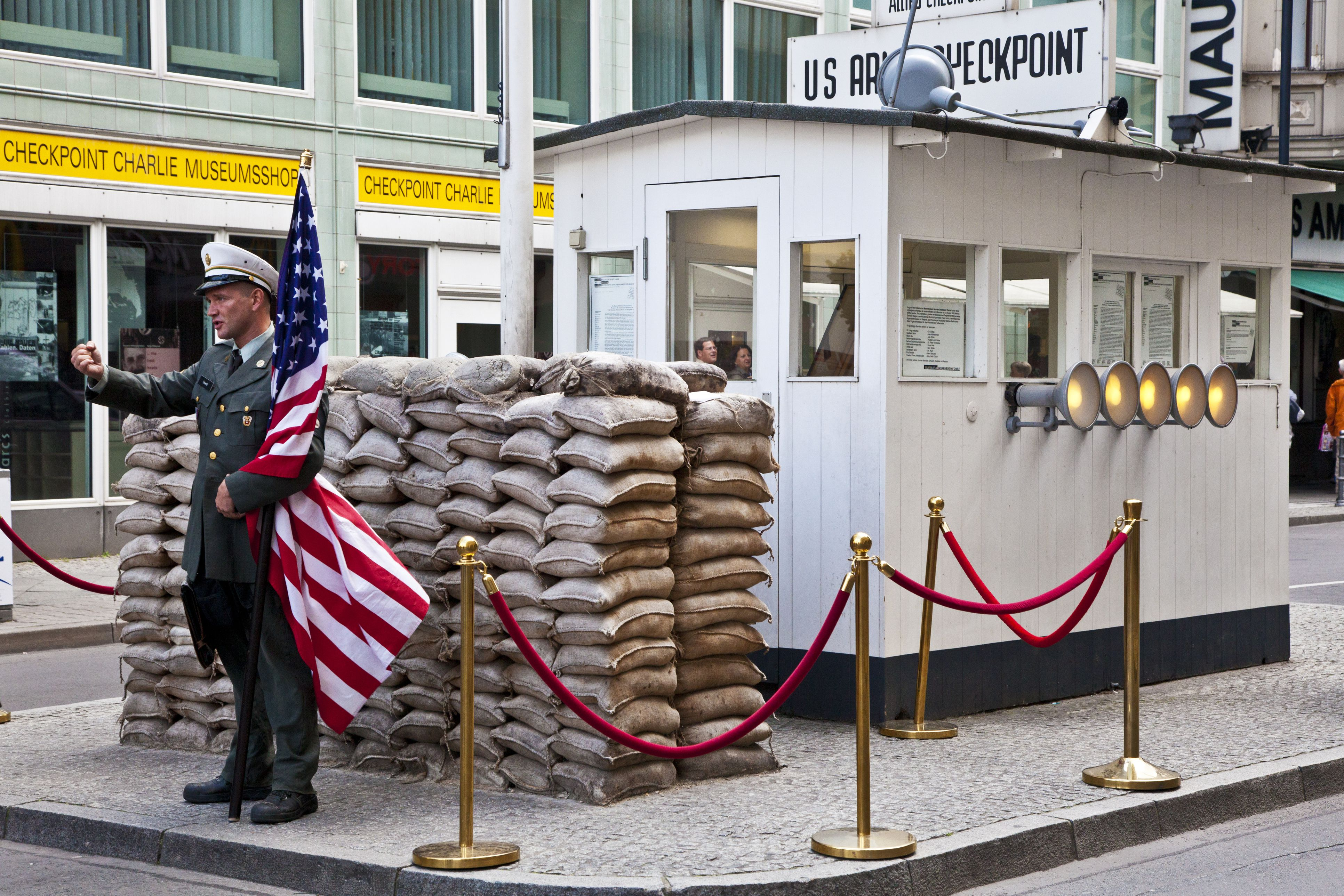 Checkpoint Charlie which was the famous Berlin Wall crossing between East and West Berlin