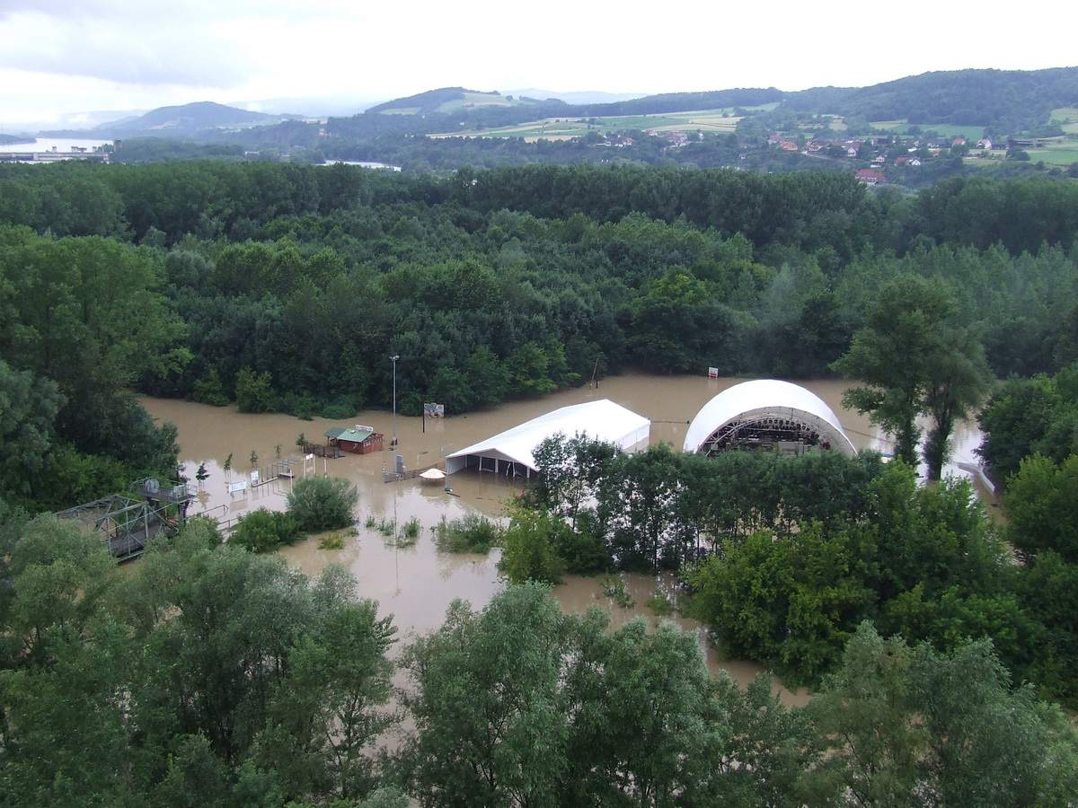 Flooded Melk Summer Amphitheater at Melk, Austria