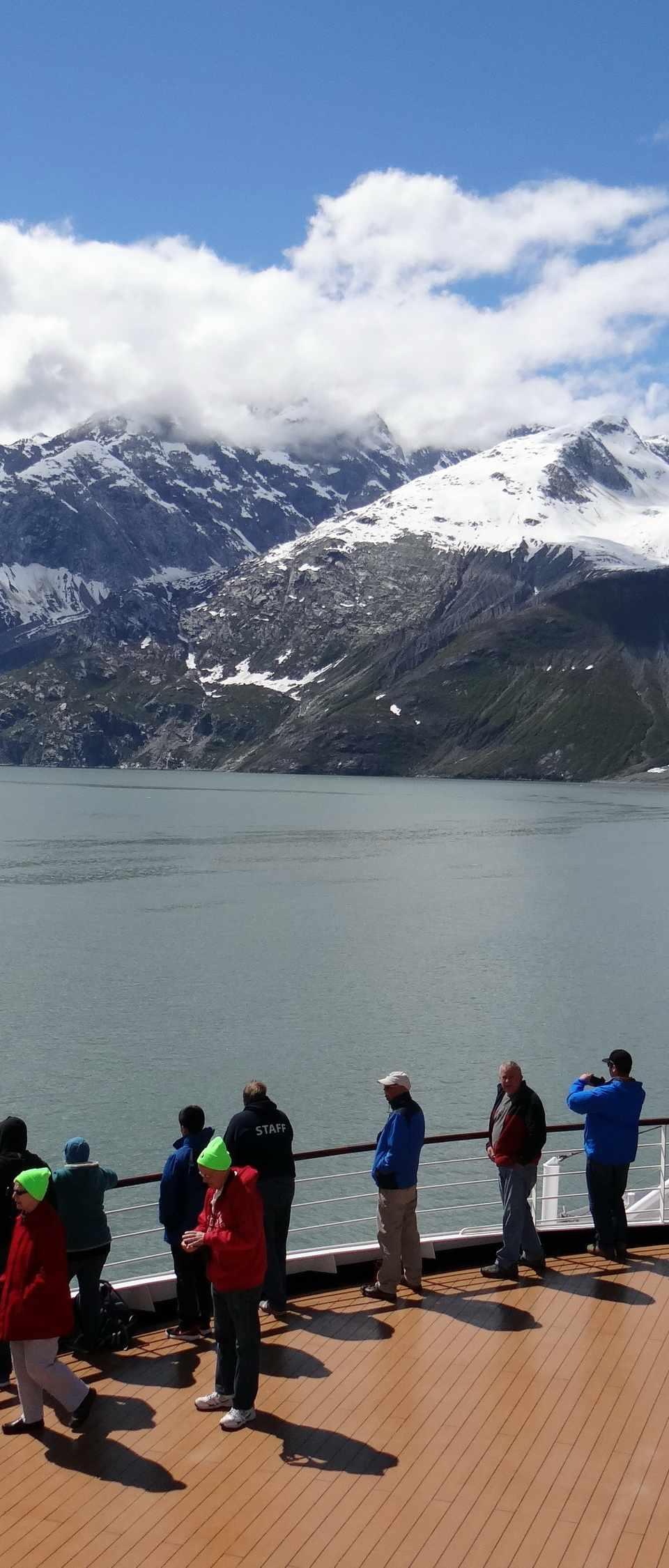 Glacier Bay Alaska tourists on cruise ship