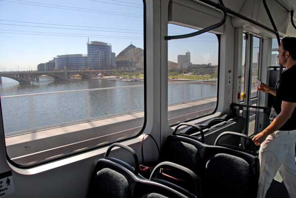 Tempe Town Lake View From Light Rail