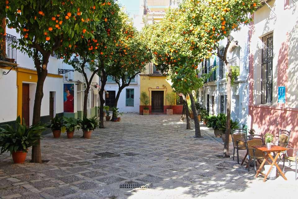 Barrio Santa Cruz Sevilla, España