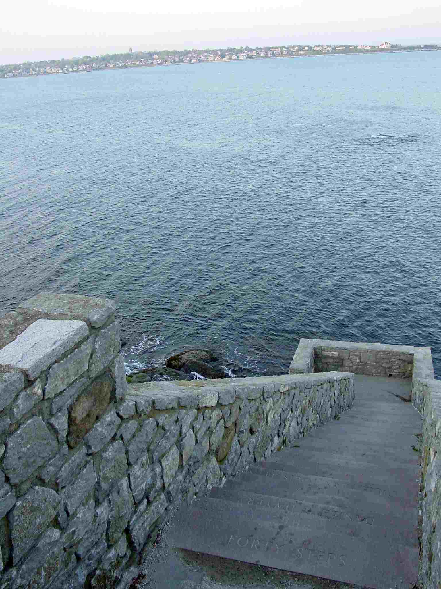 Newport Cliff Walk Forty Steps Picture