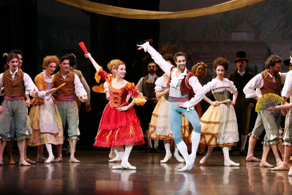 Star Dancers Mathias Heymann (Basile) and Ludmila Pagliero (Kitri) performs in Don Quichotte