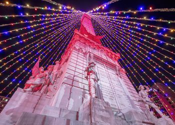 Christmas in Indianapolis - Christmas tree on Soldiers and Sailors Monumen
