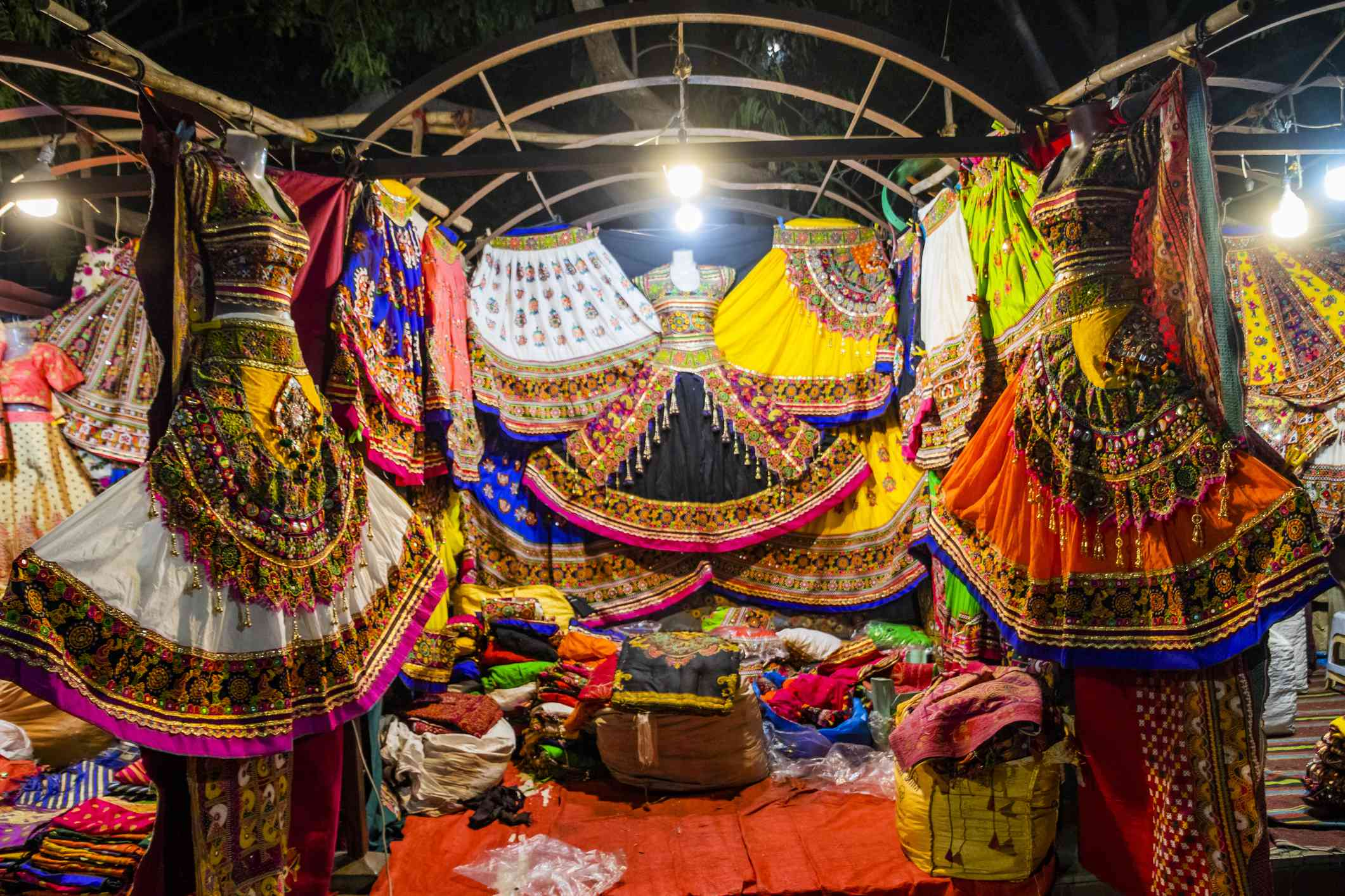 Colorful handicrafts for sale in Law Garden. Ahmedabad