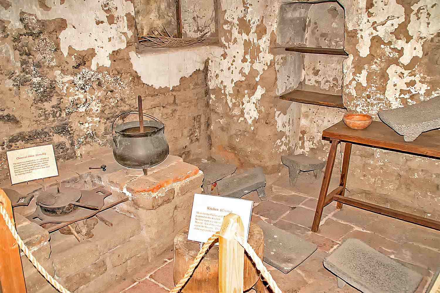 Kitchen at Mission San Miguel