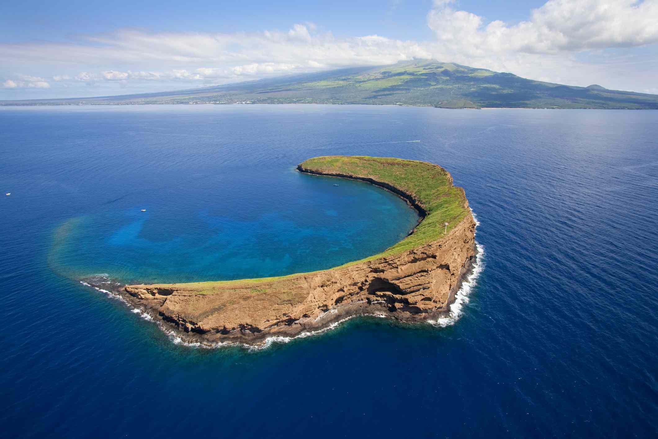 Molokini Crater on Maui, Hawaii