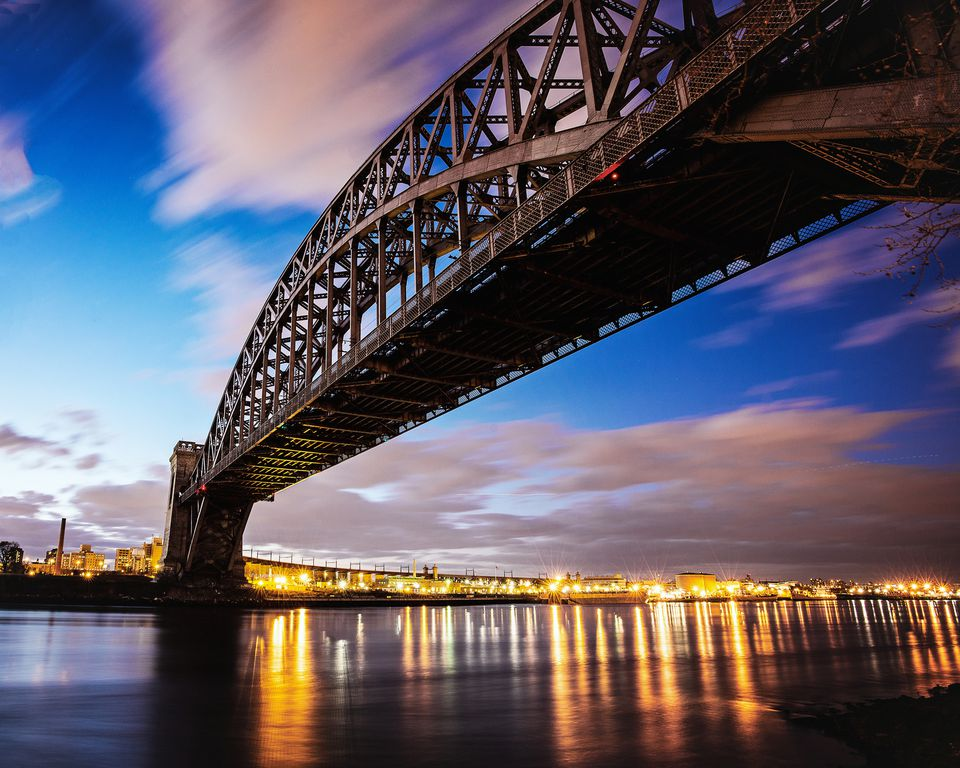 Hellsgate Bridge Long Exposure from Astoria Park, Queens