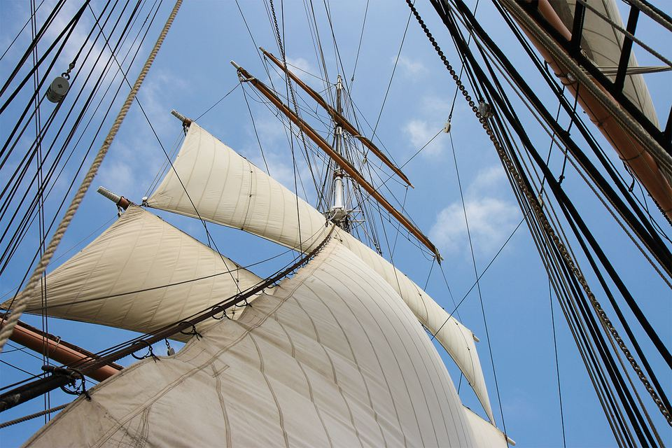 Sails at the San Diego Maritime Museum